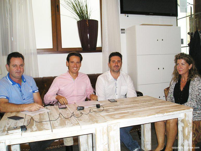 García, Cardona, Antón y Pérez en Rueda de Prensa
