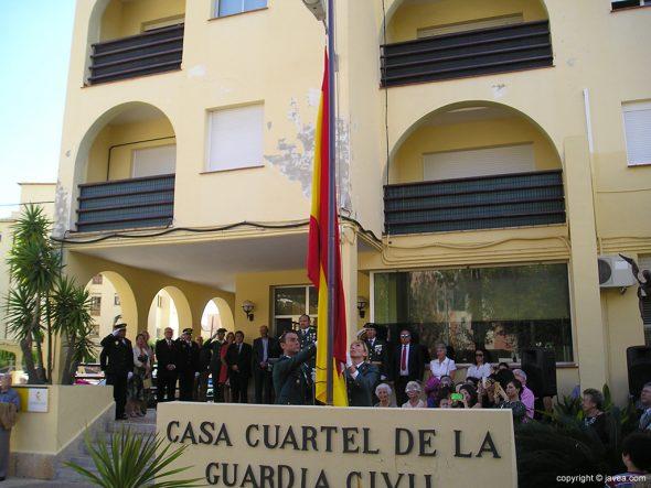 Bandera de España en el mastil