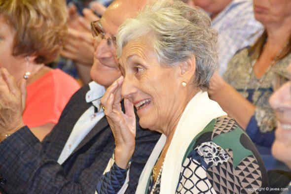 Lagrimas en el rostro de Inma Yáñez
