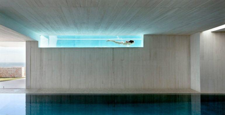Vista interior de la piscina de Cala Sardinera