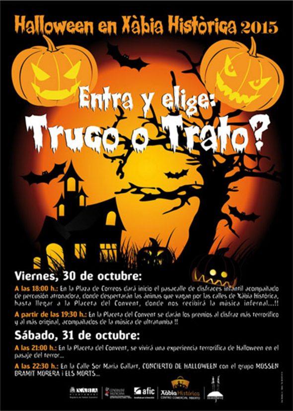 cartel halloween Xàbia 2015
