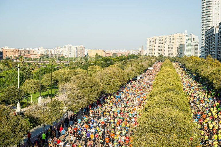 Atletas en la maratón de Valencia
