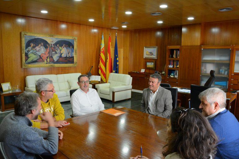 Chulvi y Moragues con los rectores de la Universidad de Alicante