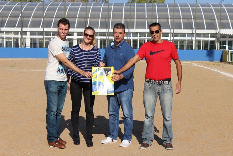Colomer con los rectores del Club Multiesport Benitatxell
