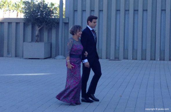 David Ferrer con su madre Pilar Ern