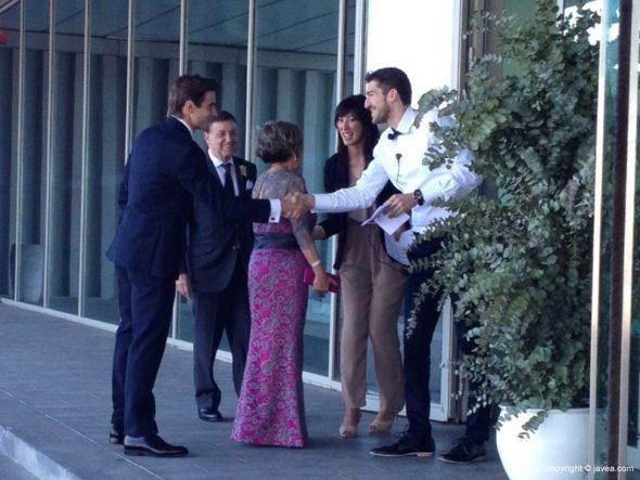 David Ferrer junto a sus padres