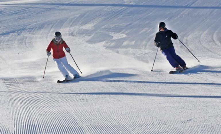 Esquiando en Sierra Nevada