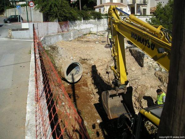 Excavaciones en la cuesta de San Antonio