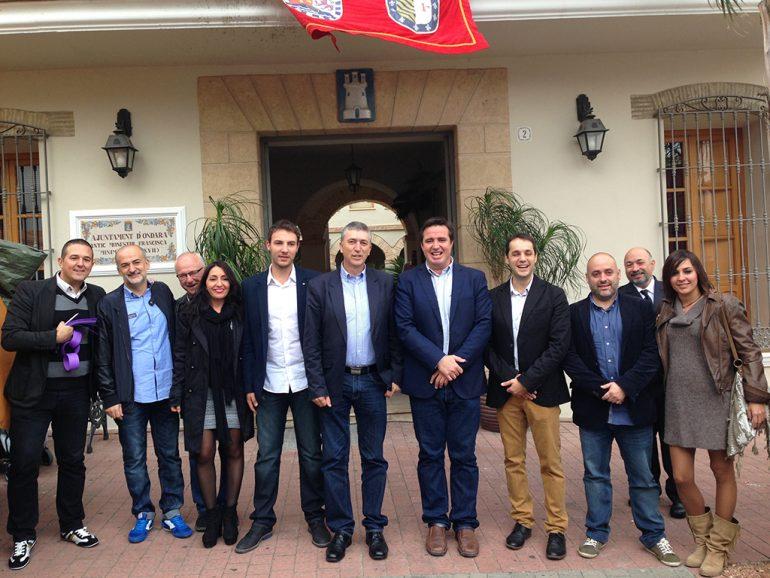 Herick Campos en su visita a Ondara