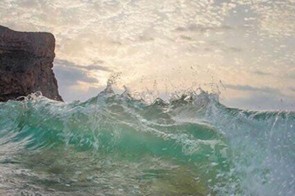Imagen de un ola captado por un dron