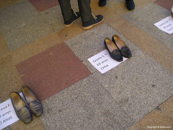 Par de zapatos en recuerdo de Gisela