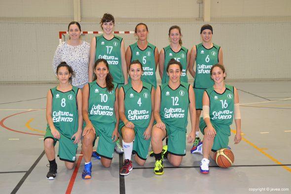 Pati Suñer con su equipo senior