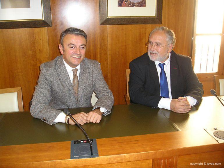 Chulvi junto a Antonio Such