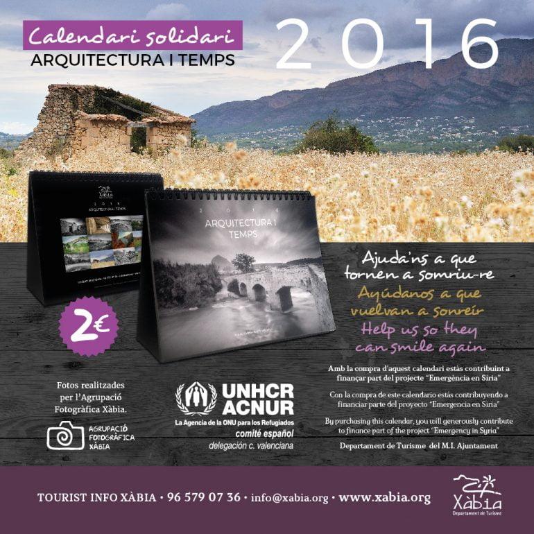 Calendario benéfico Xàbia 2016