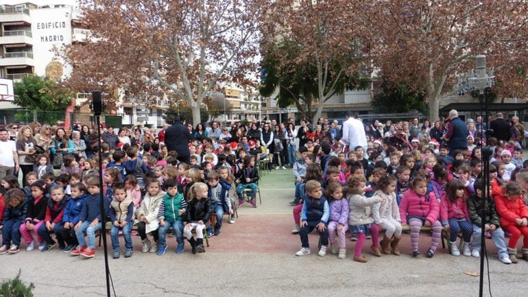 Escolares del colegio Port de Xàbia