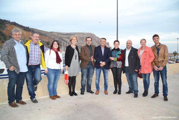 Julian López junto a ediles socialistas de Xàbia
