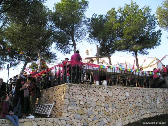 Romeros en la ermita de Santa Llúcia