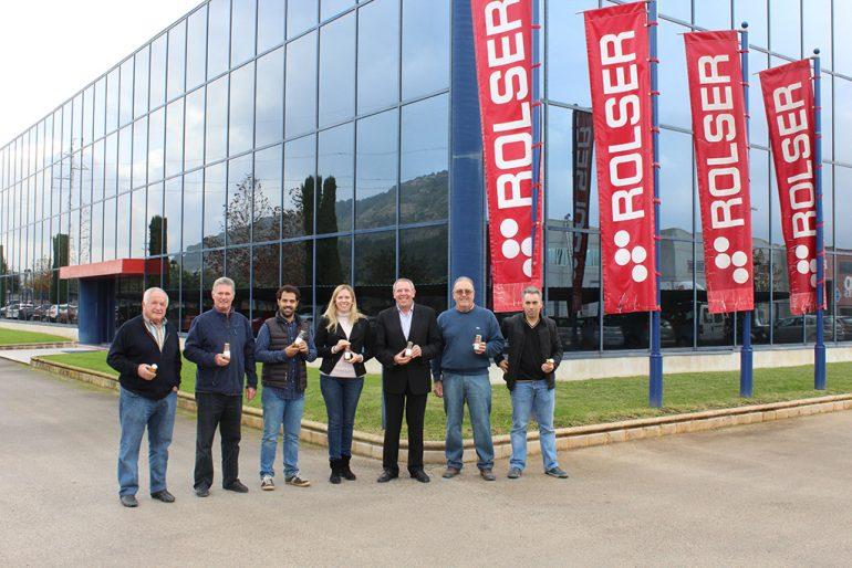 Los responsables del Proyecto BioMoscatell en la empresa Rolser