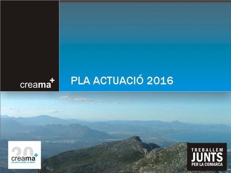Plan de Actuaciones de Creama 2016