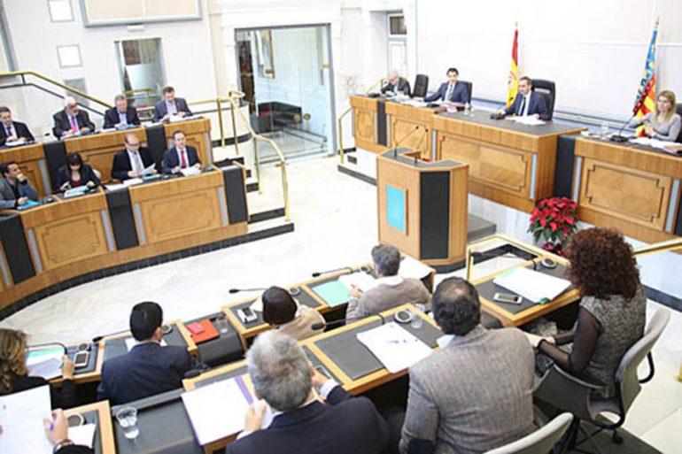 Pleno en la Diputación Alicante
