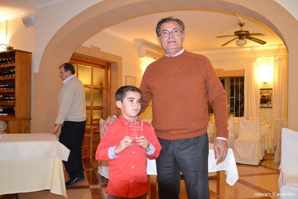 Adrián Sánchez con Joaquín Serrano