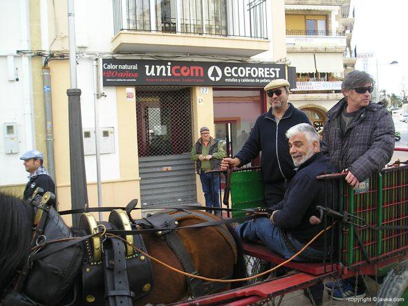Carruaje en las calles de Xàbia