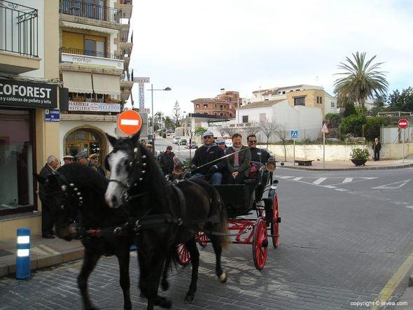 Carruaje en el desfile ecuestre