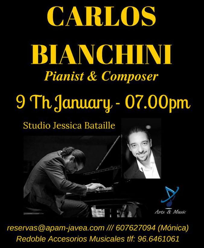 Cartel concierto de Carlos Bianchini