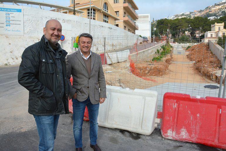 Chulvi y Torres durante una visita a las obras