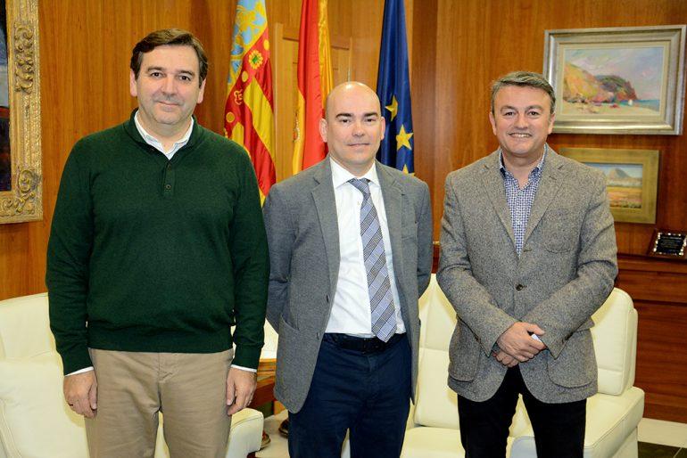 Daniel Nogueroles junto a Chulvi y Miragall
