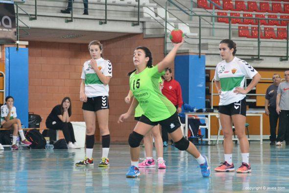 Elena Hierro lanzado un penalti