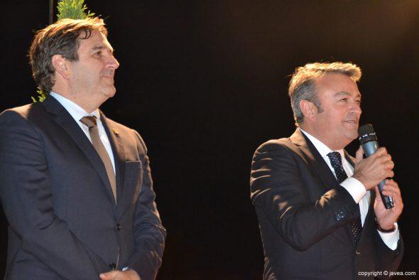 José Chulvi junto a Antonio Miragall