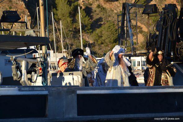 Los Reyes a bordo