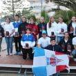 Regatistas del CN Jávea en el podio de  Altea