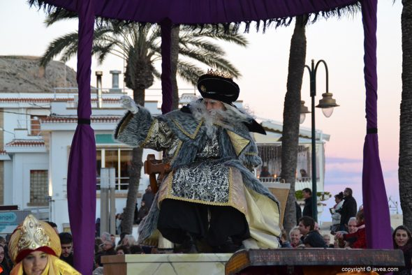 Rey Melchor en su carroza