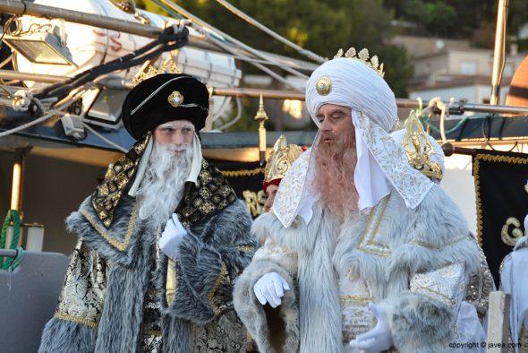 Reyes Melchor y Gaspar en el barco