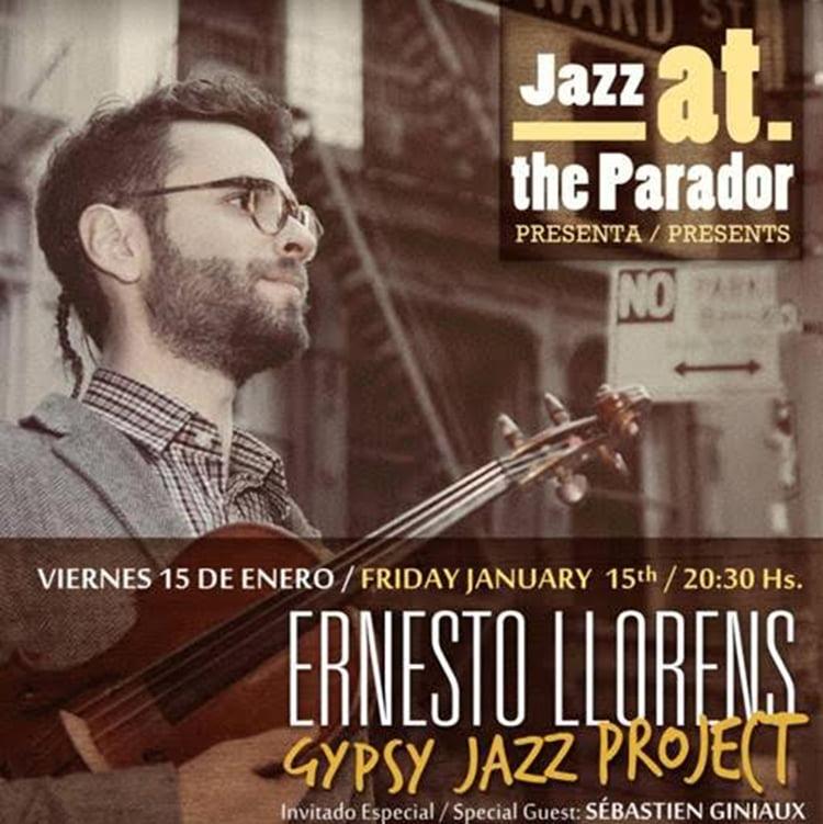 cartel Ernesto Llorens Gypsy Jazz Project
