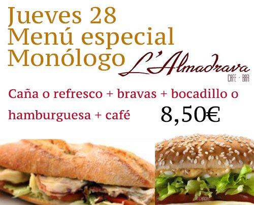 Menú Restaurante L'Almadrava