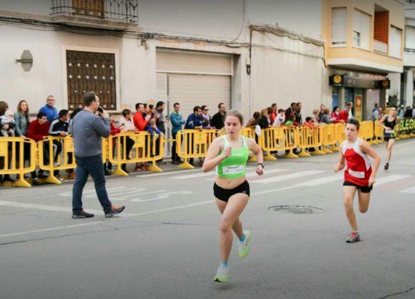 Ana González en la carrera