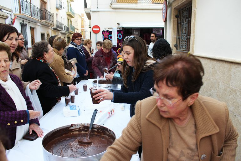 Chocolatada de San Blai en Benitatxell