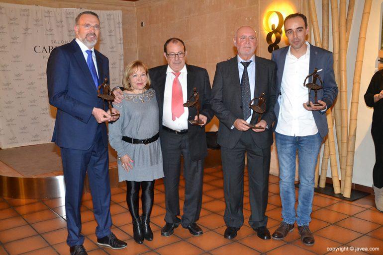 Premiados en la Gala de la ARX.
