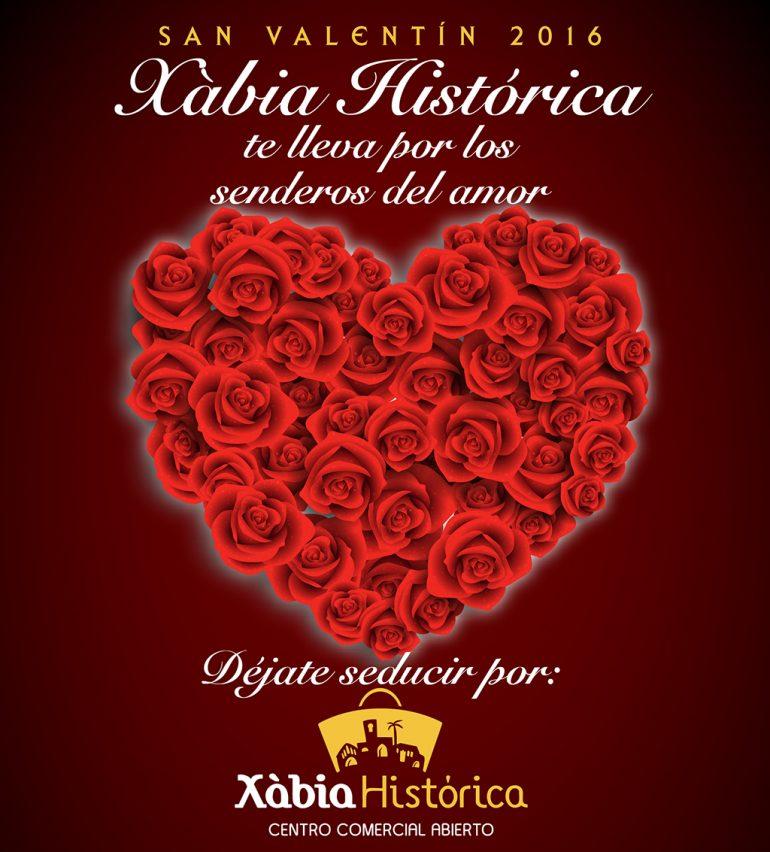 Cartel Campaña S. Valentín en Xàbia Histórica