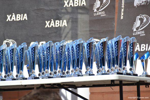 Trofeos de la XXVII Volta a Peu a Xàbia