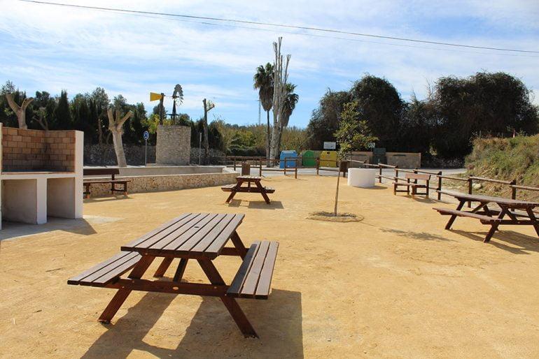 Área recreativa del Abiar en Benitatxell