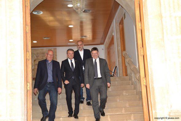 Puig con los alcaldes de Xàbia, Dénia y Jesús Pobre
