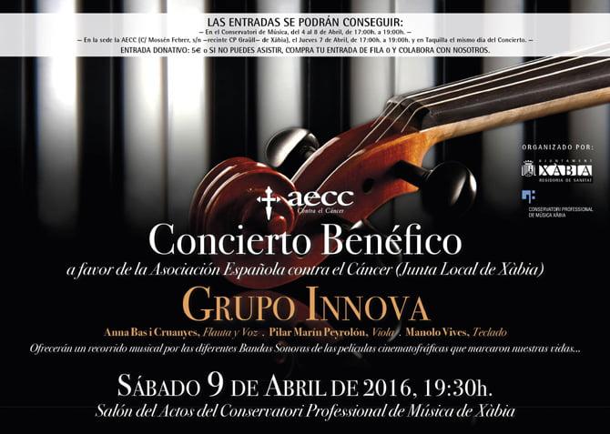 Cartel del Concierto del Grupo Innova