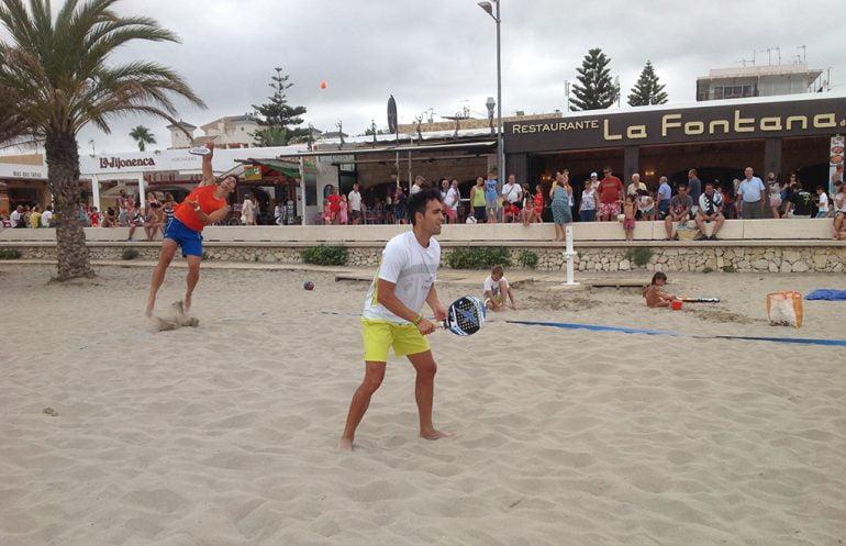 Exhibición de Beach Tennis en Xàbia
