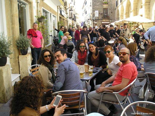 Gran ambiente en el casco histórico de Xàbia