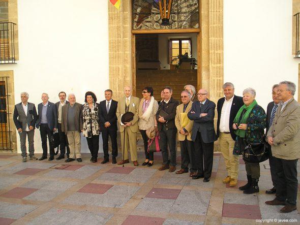 Miembros del Consell Valencià de Cultura en Xàbia
