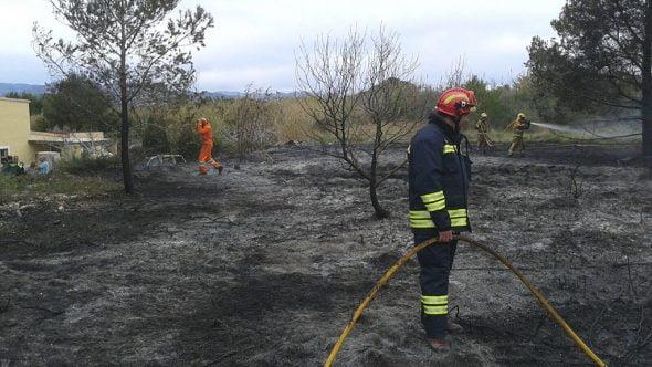 Parcela quemada